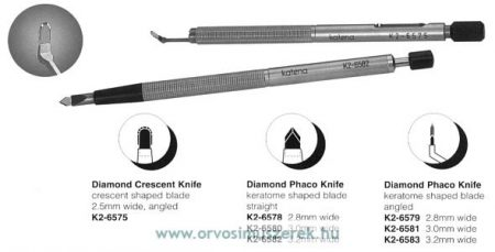 KATENA K2-6581  DIAMOND KERATOME 3.0MM ANG