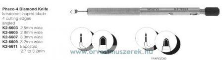 KATENA K2-6607  PHACO-4 DIA KNIFE 3.0MM ANG