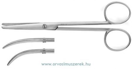 KATENA K4-9910  ENUCLEATION SCISS MED CURVE