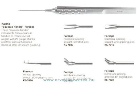 KATENA K5-7630  FORCEPS MEMBRANE PEEL SMOOTH
