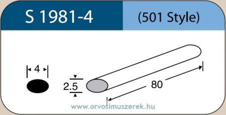 LABTICIAN S1981-4 Retina Implantátum - Ovális Szilikon szivacs 2,5mm x 4,0mm x 80mm 5db/doboz - 501 Style