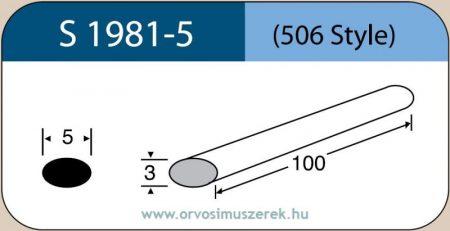 LABTICIAN S1981-5 Retina Implantátum - Ovális Szilikon szivacs 3,0mm x 5,0mm x 80mm 5db/doboz - 506 Style