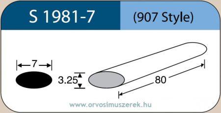 LABTICIAN S1981-7 Retina Implantátum - Ovális Szilikon szivacs 3,25mm x 7,0mm x 80mm 5db/doboz - 907 Style