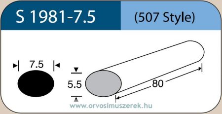 LABTICIAN S1981-7.5 Retina Implantátum - Ovális Szilikon szivacs 5,5mm x 7,5mm x 80mm 5db/doboz - 507 Style