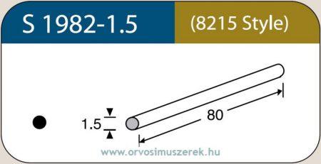 LABTICIAN S1982-1.5 Retina Implantátum - Kerek Szilikon szivacs 1,5mm x 80mm 5db/doboz - 8215 Style