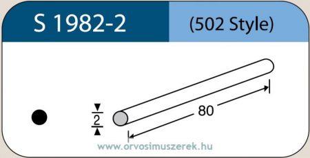 LABTICIAN S1982-2 Retina Implantátum - Kerek Szilikon szivacs 2,0mm x 80mm 5db/doboz - 502 Style