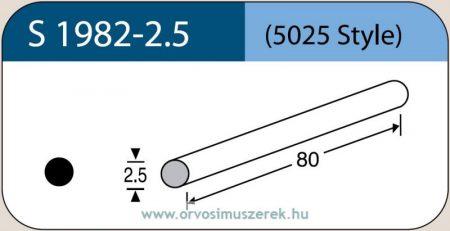 LABTICIAN S1982-2.5 Retina Implantátum - Kerek Szilikon szivacs 2,5mm x 80mm 5db/doboz - 5025 Style
