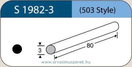 LABTICIAN S1982-3 Retina Implantátum - Kerek Szilikon szivacs 3,0mm x 80mm 5db/doboz - 503 Style