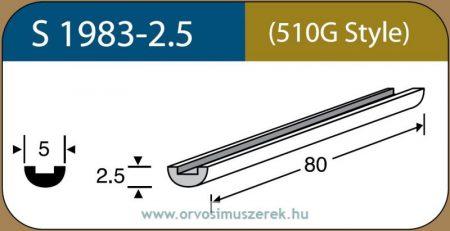 LABTICIAN S1983-2.5 Retina Implantátum - Profilcsík alakú Szilikon szivacs 2,5mm x 5,0mm x 80mm 5db/doboz - 510G Style