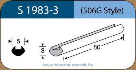 LABTICIAN S1983-3 Retina Implantátum - Profilcsík alakú Szilikon szivacs 3,0mm x 5,0mm x 80mm 5db/doboz - 506G Style