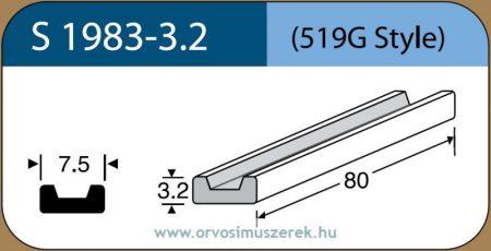 LABTICIAN S1983-3.2 Retina Implantátum - Profilcsík alakú Szilikon szivacs 3,2mm x 7,5mm x 80mm 5db/doboz - 519G Style
