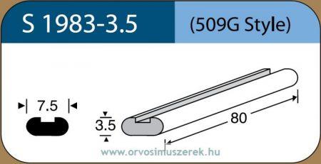 LABTICIAN S1983-3.5 Retina Implantátum - Profilcsík alakú Szilikon szivacs 3,5mm x 7,5mm x 80mm 5db/doboz - 509G Style