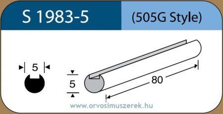 LABTICIAN S1983-5 Retina Implantátum - Profilcsík alakú Szilikon szivacs 5,0mm x 5,0mm x 80mm 5db/doboz - 505G Style