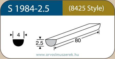 LABTICIAN S1984-2.5 Retina Implantátum - Félkör alakú Szilikon szivacs 2,5mm x 4,0mm x 80mm 5db/doboz - 8425 Style