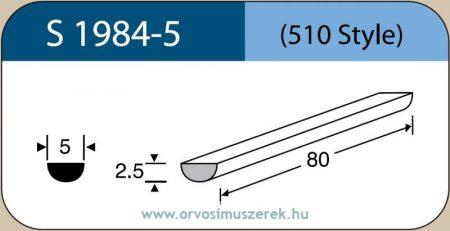 LABTICIAN S1984-5 Retina Implantátum - Félkör alakú Szilikon szivacs 2,5mm x 5,0mm x 80mm 5db/doboz - 510 Style