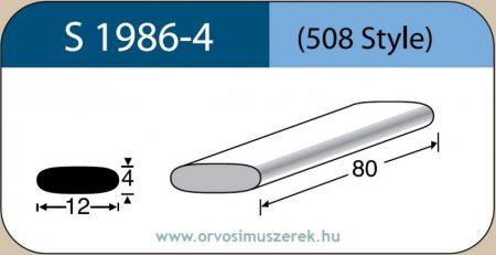 LABTICIAN S1986-4 Retina Implantátum - Téglalap alakú Szilikon szivacs 4,0mm x 12,0mm x 80mm 5db/doboz - 508 Style