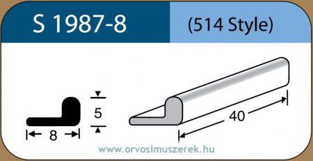 LABTICIAN S1987-8 Retina Implantátum - L alakú Szilikon szivacs 4,0mm x 8,0mm x 80mm 5db/doboz - 514 Style