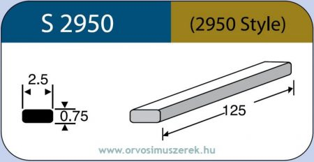 LABTICIAN S2950 Retina Implantátum - Cerclage Szilikon szalag 0,75mm x 2,5mm x 125,0mm 5db/doboz - 2950 Style