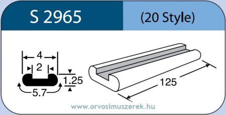 LABTICIAN S2965 Retina Implantátum - Profilcsík alakú Szilikon szalag 1,25mm x 2,0mm x 4,0mm x 5,7mm x 125,0mm 5db/doboz - 20 Style