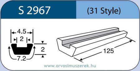 LABTICIAN S2967 Retina Implantátum - Profilcsík alakú Szilikon szalag 2,0mm x 2,0mm x 4,5mm x 7,2mm x 125,0mm 5db/doboz - 31 Style