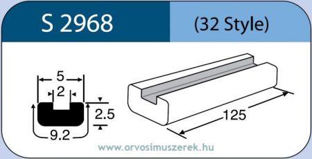 LABTICIAN S2968 Retina Implantátum - Profilcsík alakú Szilikon szalag 2,5mm x 2,0mm x 5,0mm x 9,2mm x 125,0mm 5db/doboz - 32 Style