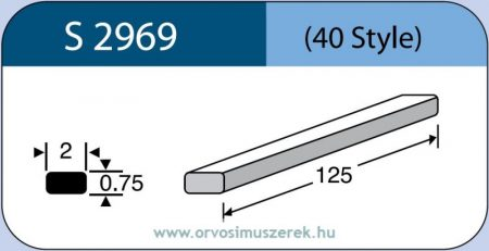 LABTICIAN S2969 Retina Implantátum - Cerclage Szilikon szalag 0,75mm x 2,0mm x 125,0mm 5db/doboz - 40 Style