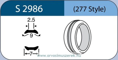 LABTICIAN S2986 Retina Implantátum - Abroncs alakú Konkáv Szilikon 2,5mm x 9,0mm x 7,0mm 5db/doboz - 277 Style