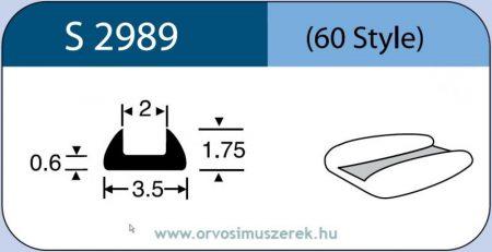 LABTICIAN S2989 Retina Implantátum - Csónak alakú Szilikon 1,75mm x 3,5mm x 0,6 x 2,0mm 5db/doboz - 60 Style