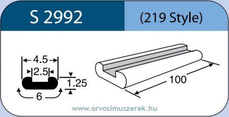 LABTICIAN S2992 Retina Implantátum - Profilcsík alakú Szilikon szalag 1,25mm x 2,5mm x 4,5mm x 6,0mm x 100,0mm 5db/doboz - 219 Style