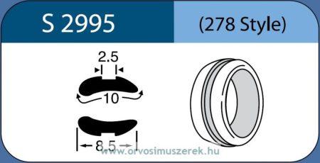 LABTICIAN S2995 Retina Implantátum - Abroncs alakú Aszimmetrikus Szilikon 2,5mm x 10,0mm x 8,5mm 5db/doboz - 278 Style