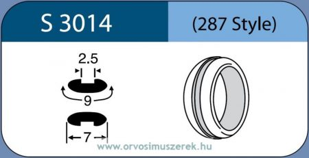 LABTICIAN S3014 Retina Implantátum - Abroncs alakú Konvex Szilikon 2,5mm x 9,0mm x 7,0mm 5db/doboz - 287 Style
