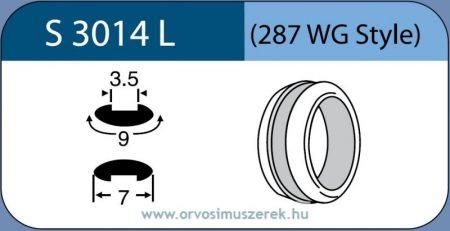 LABTICIAN S3014L Retina Implantátum - Abroncs alakú Konvex Szilikon 3,5mm x 9,0mm x 7,0mm 5db/doboz - 287WG Style