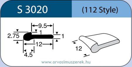 LABTICIAN S3020 Retina Implantátum - Meridional Szilikon 1,0mm x 1,0mm x 4,5mm x 2,75mm x 9,5mm x 12,0mm x 12,0mm 5db/doboz - 112 Style