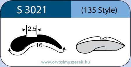 LABTICIAN S3021 Retina Implantátum - Ék alakú Szilikon 2,5mm x 16,0mm 5db/doboz - 135 Style