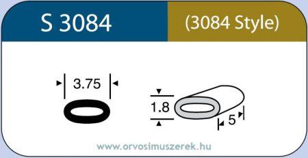 LABTICIAN S3084 Retina Implantátum - Ovális gyűrű Szilikon 1,8mm x 3,75mm x 5,0mm 5db/doboz (Szilikon szalahoz) - 3084 Style