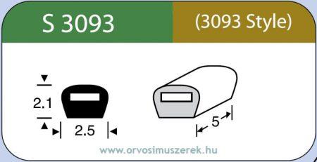 LABTICIAN S3093 Retina Implantátum - Bedomborító kötés Szilikon 2,1mm x 2,5mm x 5,0mm 5db/doboz (Szilikon szalahoz) - 3093 Style
