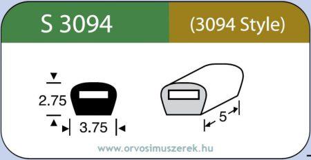 LABTICIAN S3094 Retina Implantátum - Bedomborító kötés Szilikon 2,75mm x 3,75mm x 5,0mm 5db/doboz (Szilikon szalahoz) - 3094 Style