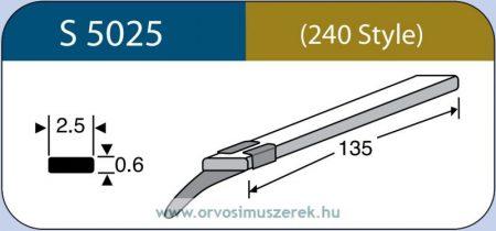 LABTICIAN S5025 Retina Implantátum - Szilikon szalag 0,6mm x 2,5mm x 135,0mm 5db/doboz - 240 Style